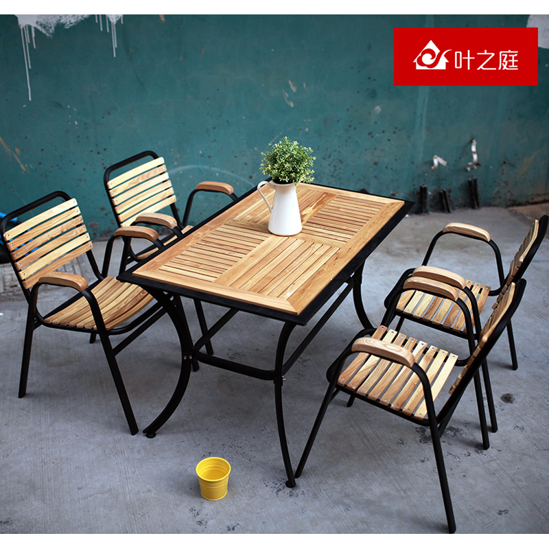 Get Quotations · Outdoor tables and chairs wujiantao wood preservative wood patio  garden furniture leisure furniture suite balcony patio - China Rental Banquet Chairs, China Rental Banquet Chairs Shopping