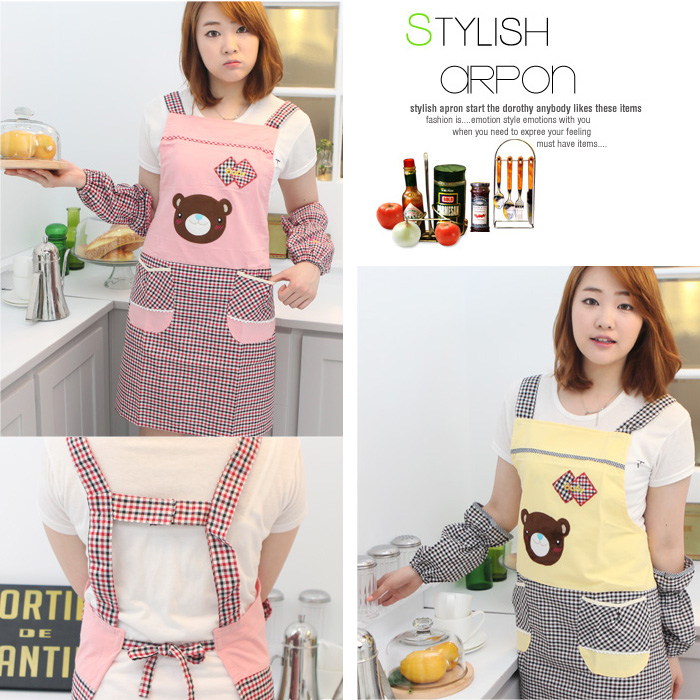 Overclothes adult household kitchen aprons korean fashion cute aprons work clothes custom male ms. shipping