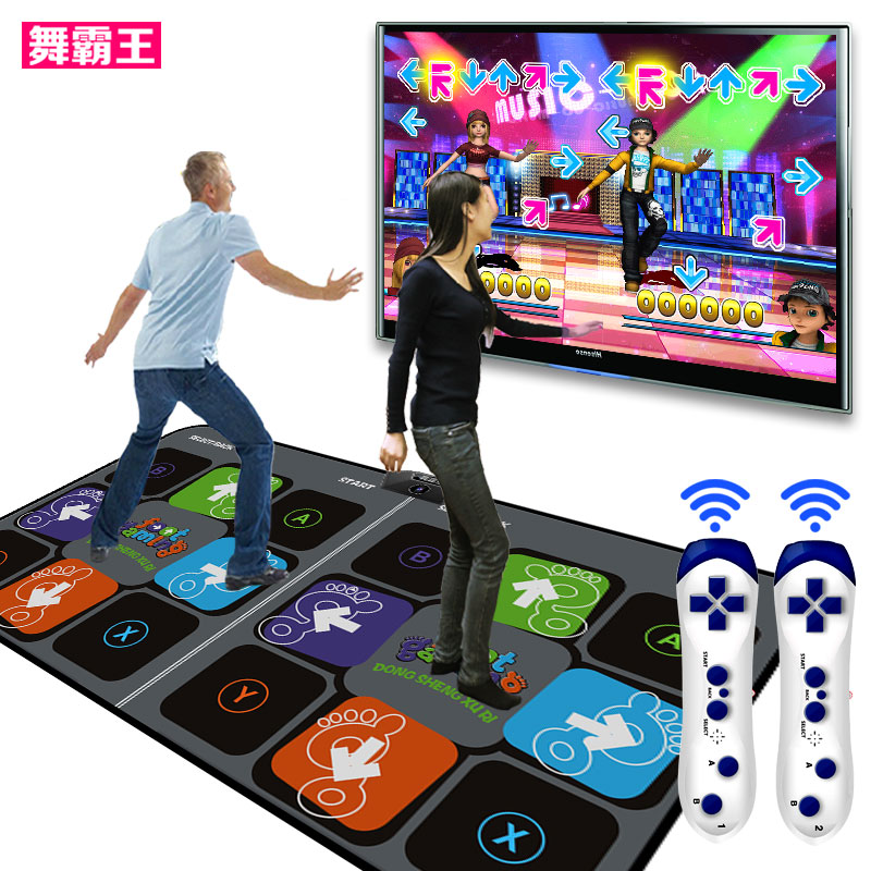 Overlord dance dance dance mat double somatosensory game consoles household diet dance dance revolution tv computer dual interface