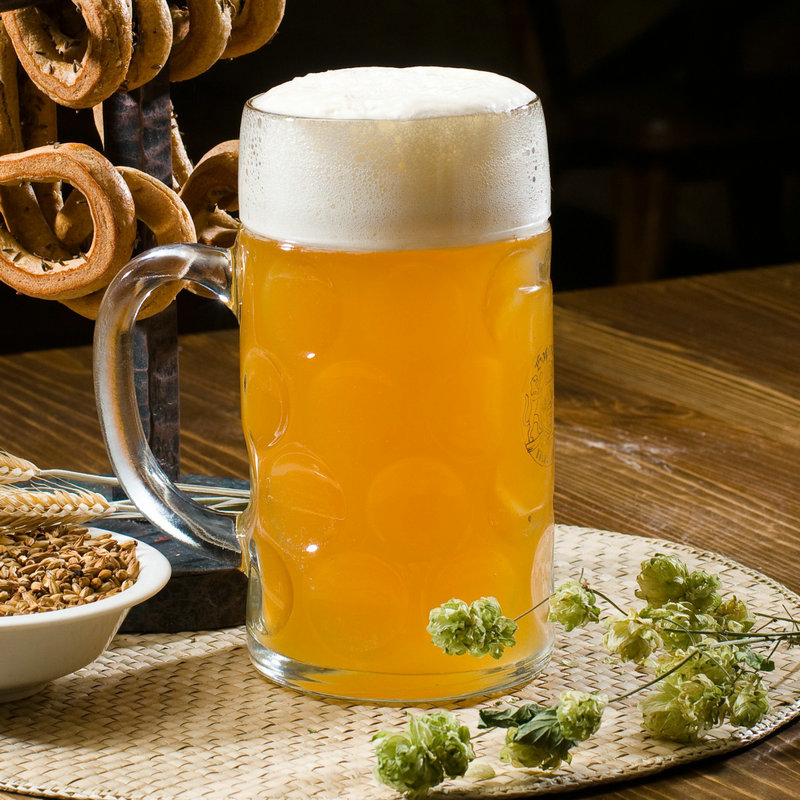 Oversized beer mug with the large glass beer mug beer mug cup of unleaded thick big yards sidewise beer mug cup party