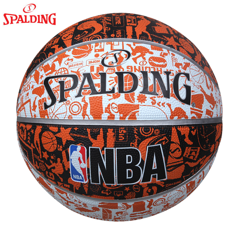 Package sf spalding nba basketball graffiti series rubber ball on 7 street basketball slip resistant outdoor l