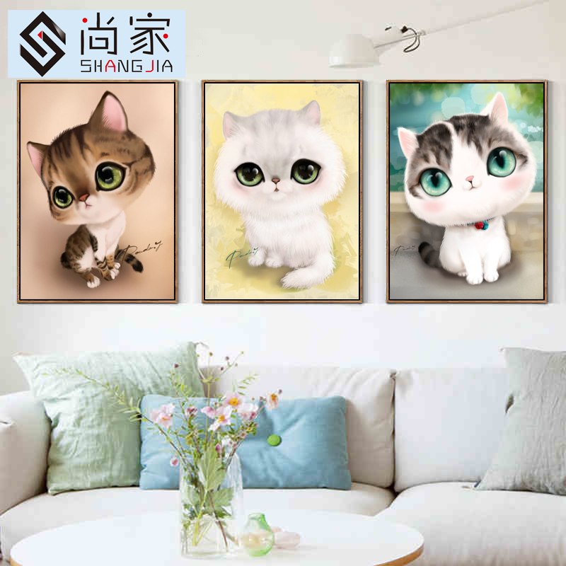 Painting full of diamond drilling new 5d cube diamond diamond embroidery stitch living room bedroom cartoon children couple cute cat