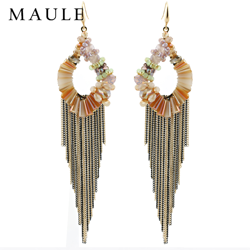 Palace retro earrings hypoallergenic earrings long section of korean temperament tassel earrings ethnic style earrings china banquet shipping