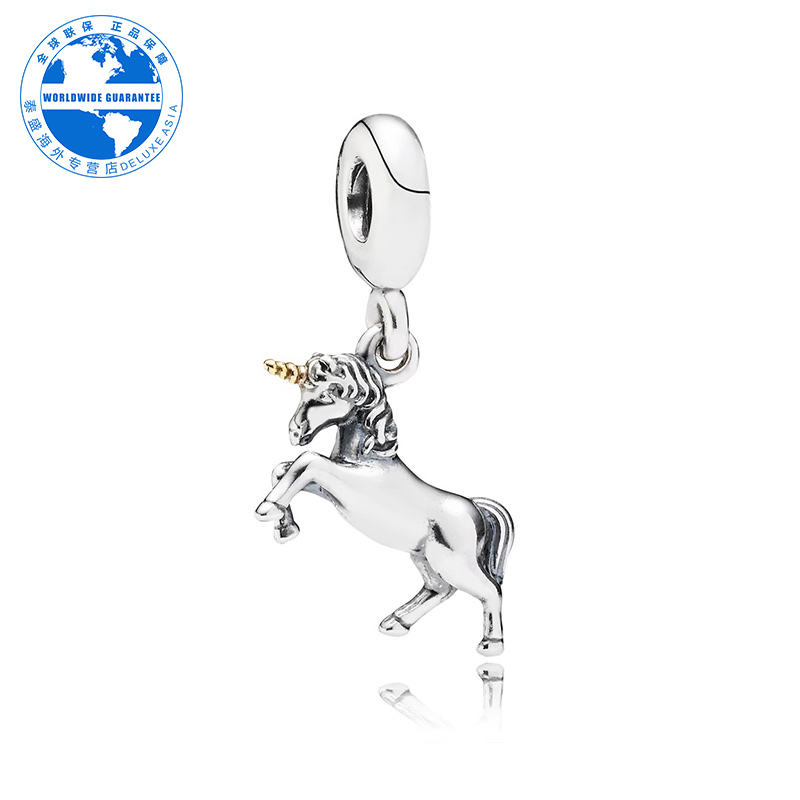 Pandora/pandora authentic fashion lady exquisite silver kabob horned horse ornaments 791200