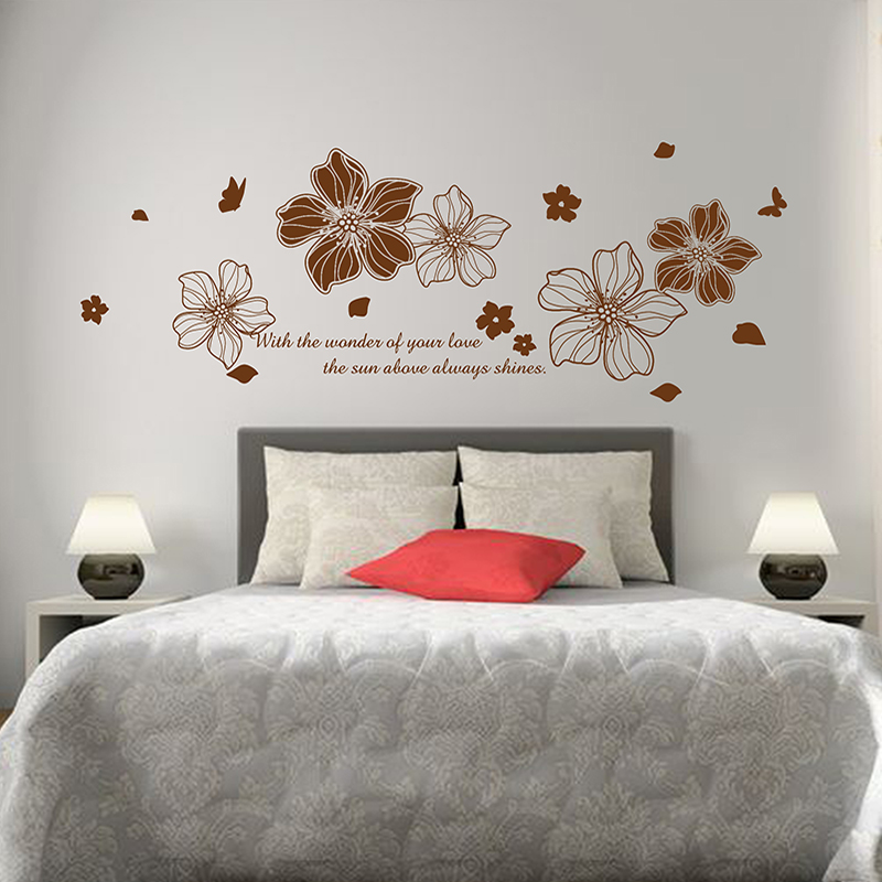 ... Paper Flower Flower Removable Wall Stickers Bedroom Bedside Cozy  Romantic Bedroom Room Decor Creative Personality Klimts