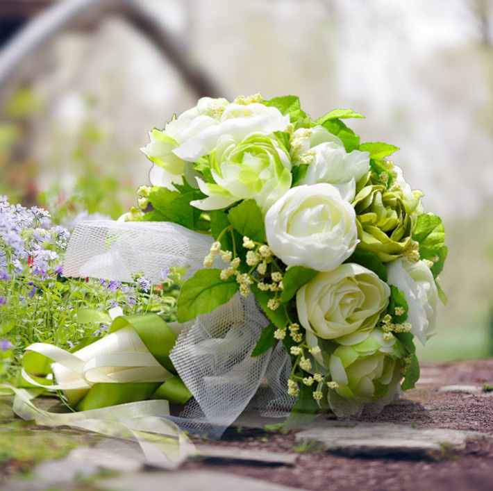 China white foam flowers china white foam flowers shopping guide at get quotations paragraph 25 green white camellia flower korean bride holding flowers bouquet holding flowers simulation holding flowers mightylinksfo
