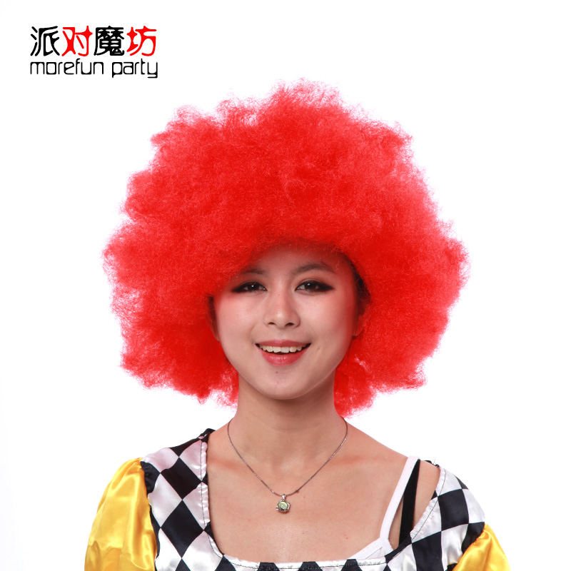 Party magic square halloween masquerade funny clown party holiday party dress accessories nap explosion wig
