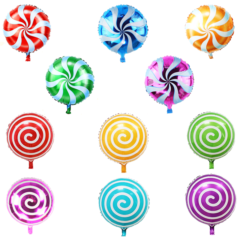 Party supplies furnished balloon 18 inch candy lollipop aluminum balloons aluminum foil balloons variety of stripes