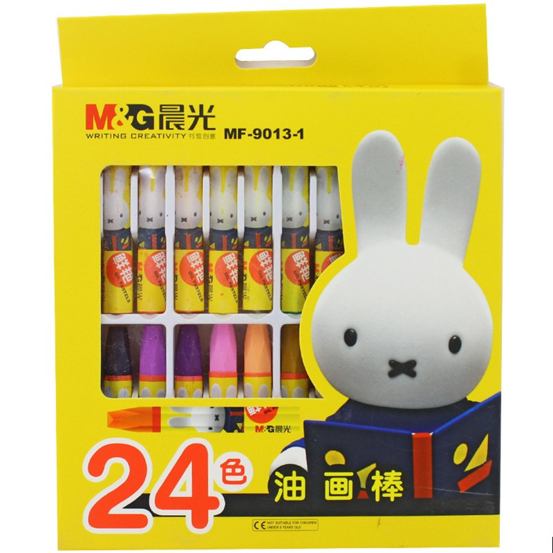Pastel dawn miffy 24 color hexagonal crayons mf-9013-1 children safe and nontoxic colorful crayons to draw