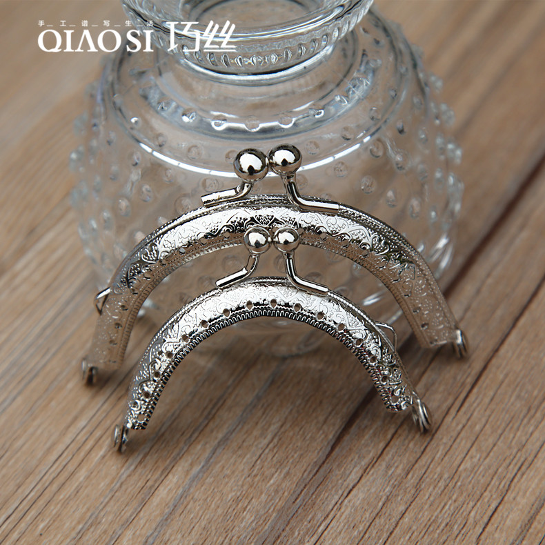 Patchwork bags diy handmade accessories of high quality 6.5/5CM cm silver embossed gold semicircle mouth constantly opening gold