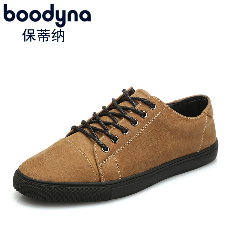 Paul boodyna priština leather first layer of matte leather men's shoes england men's casual shoes trend board shoes