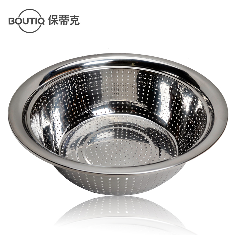 Paul mystic 30cm thick stainless steel fruit pots vegetables basin basin drain basin wash rice rice washing basin Vegetables basin