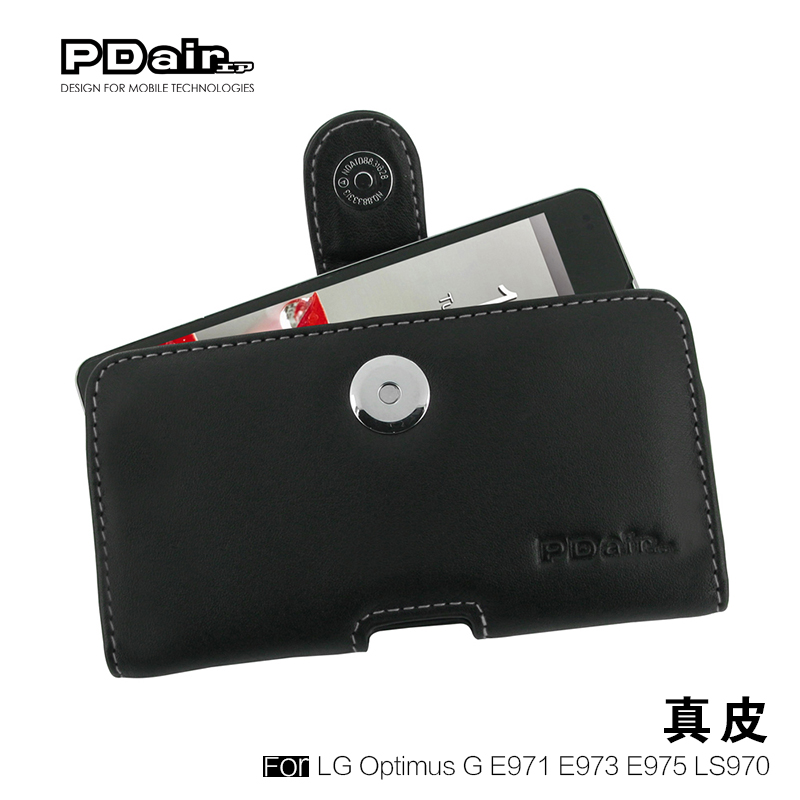 Pdair genuine lg optimus g e975 ls970 f180 mobile phone sets holster leather protective sleeve shell