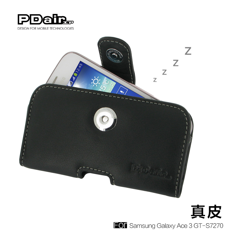 Pdair genuine samsung galaxy ace 3 s7270 s7275 mobile phone sets cowhide leather protective sleeve shell