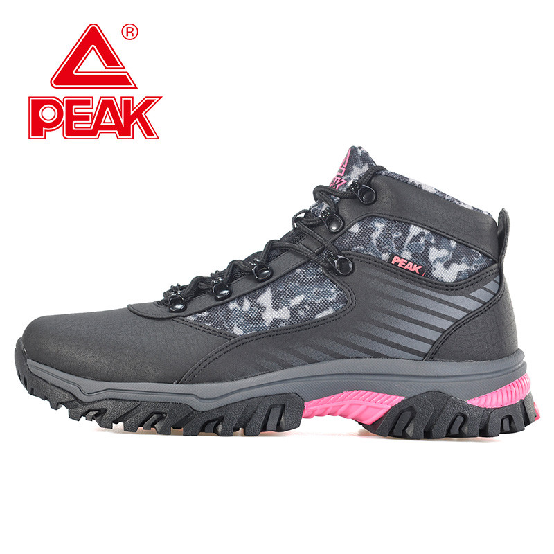 Peak/olympic women's sports shoes high to help slip resistant outdoor series of outdoor sports shoes E44238G