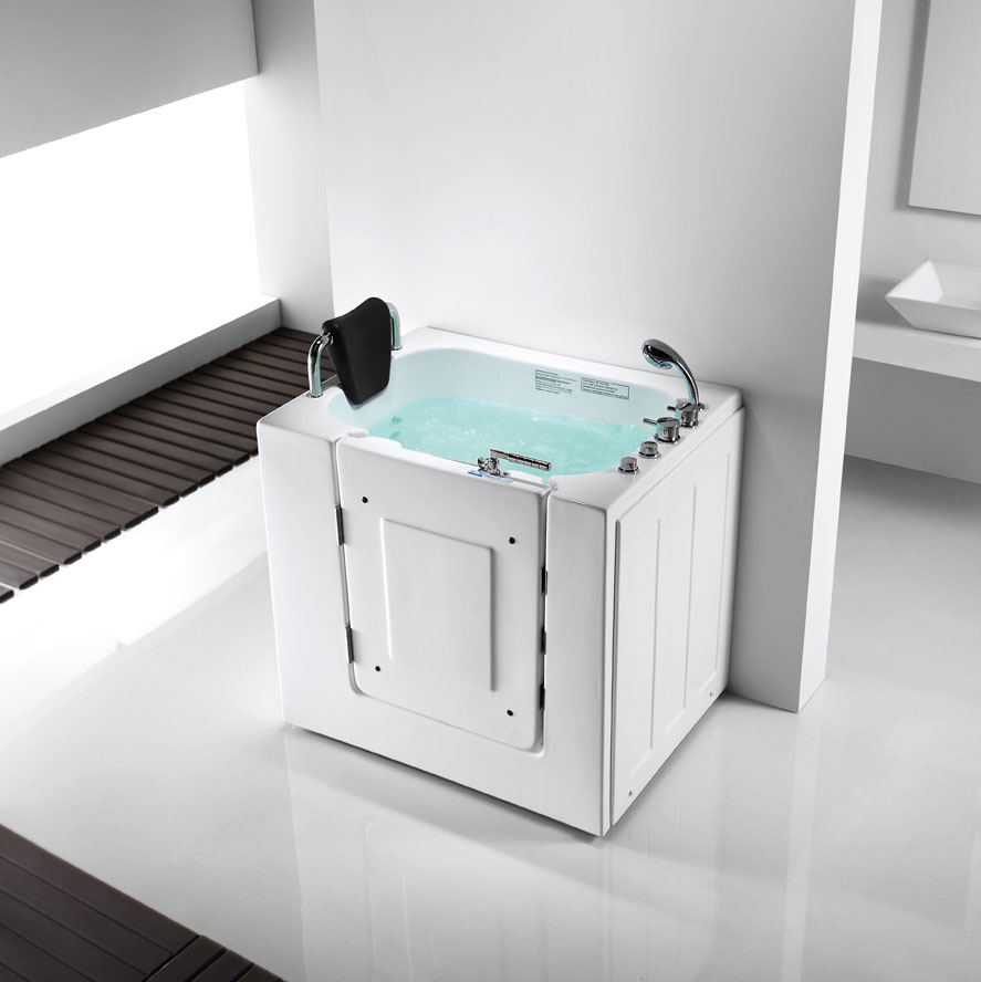Get Quotations · Pedestal Bathtub Jacuzzi Bathtub Bathtub Elderly Open