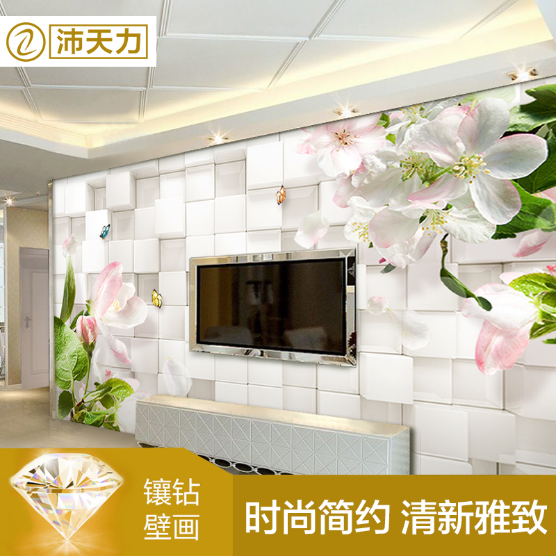 Pei days of the wallpaper bedroom modern minimalist living room tv wall seamless wall covering stereoscopic 3d custom wallpaper murals