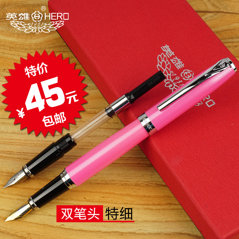 Pen genuine hero 916 pen 0.5mm/0.38mm double nib calligraphy student calligraphy pen ink pen