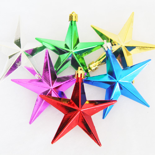 Pentagram pendant ornaments christmas star ornaments kindergarten roof light bar storefront school holiday window