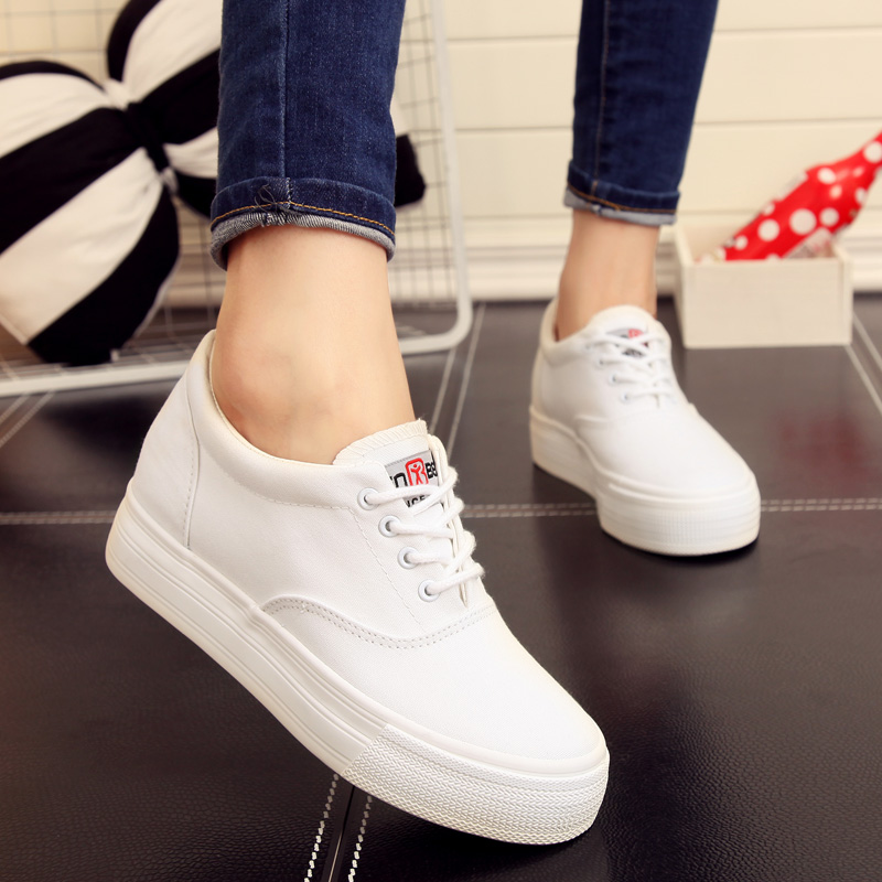 People in this white shoes white canvas shoes increased within the korean version of thick crust muffin increased casual shoes shoes nurses shoes