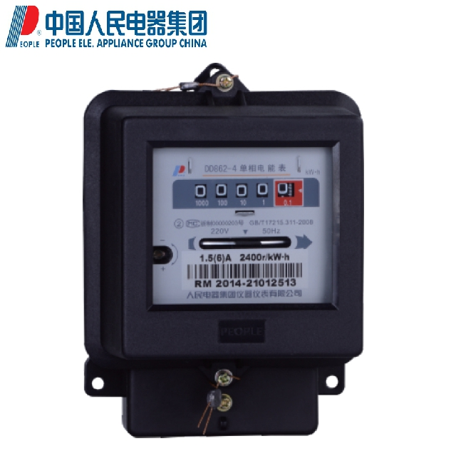 People people electric single phase dd862-4 mechanical energy meter 220 v 1.5 (6) a mutual inductance