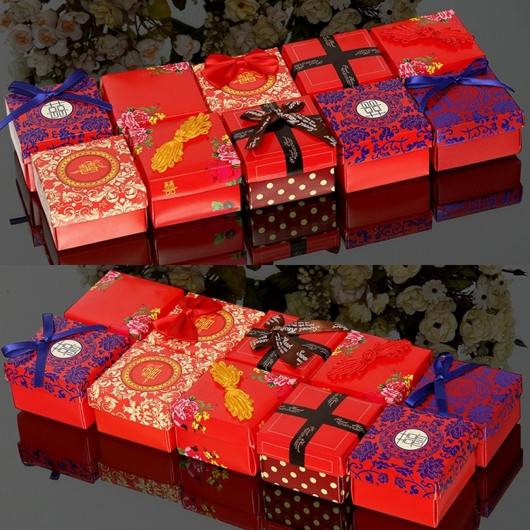 Personalized wedding creative wedding supplies wedding candy box gift box carton packaging specialties in the square box candy box