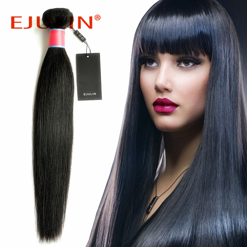 Peruvian virgin hair extension hair straightener straight natural color