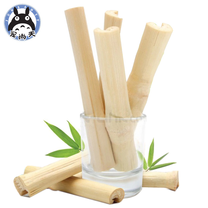 Pet still day sweet bamboo 50g natural high fiber rabbit guinea pigs chinchillas pet hamster molar teeth bite wooden sticks 3a Great