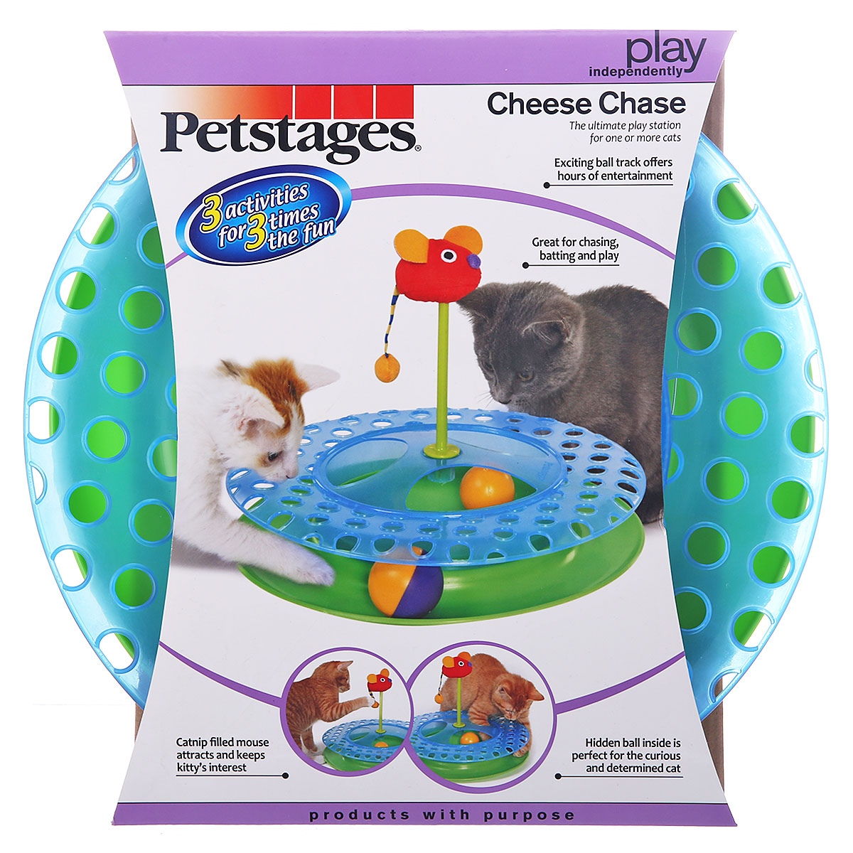 Petstages track ball pet toy cat funny cat funny cat toy interactive educational toys supplies 24 provinces shipping