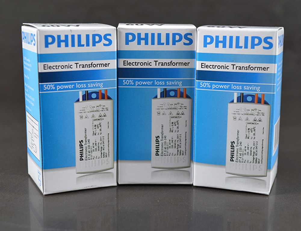 Philips electronic transformer et-e60 halogen tungsten halogen lamp beads lamp voltage stability buck