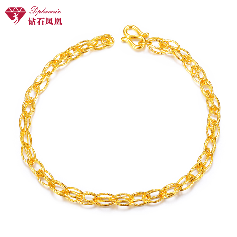 Phoenix gold diamond bracelet female models simple and stylish 999足金lantern chain courtship marriage wedding dowry