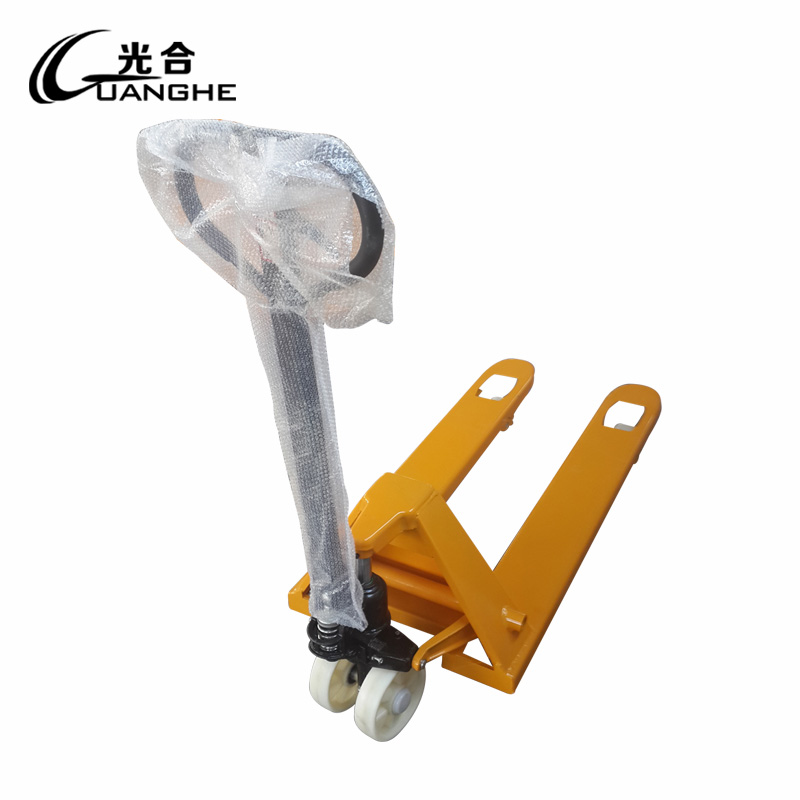 Photosynthetic 2 tons manual hydraulic hand pallet truck forklift methoxyl core polyurethane wheel truck loading and unloading trucks