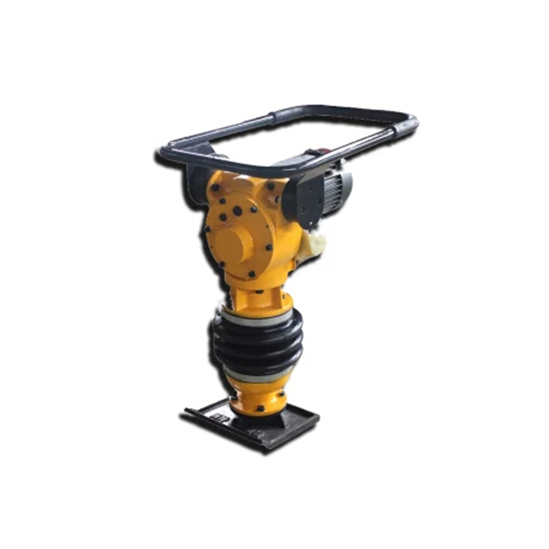 Photosynthetic road pavement concrete vertical electric rammer tamping machine ramming machine rammer compactor task of ramming the earth