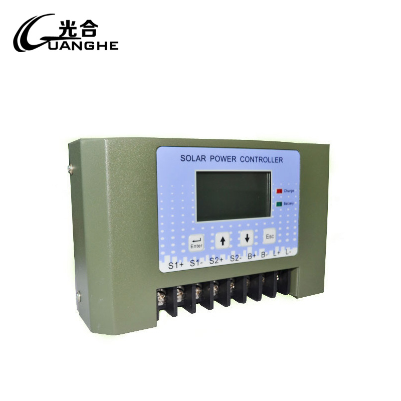 Photosynthetic solar controller charge and discharge protection 24v40a solar street light controller lcd display