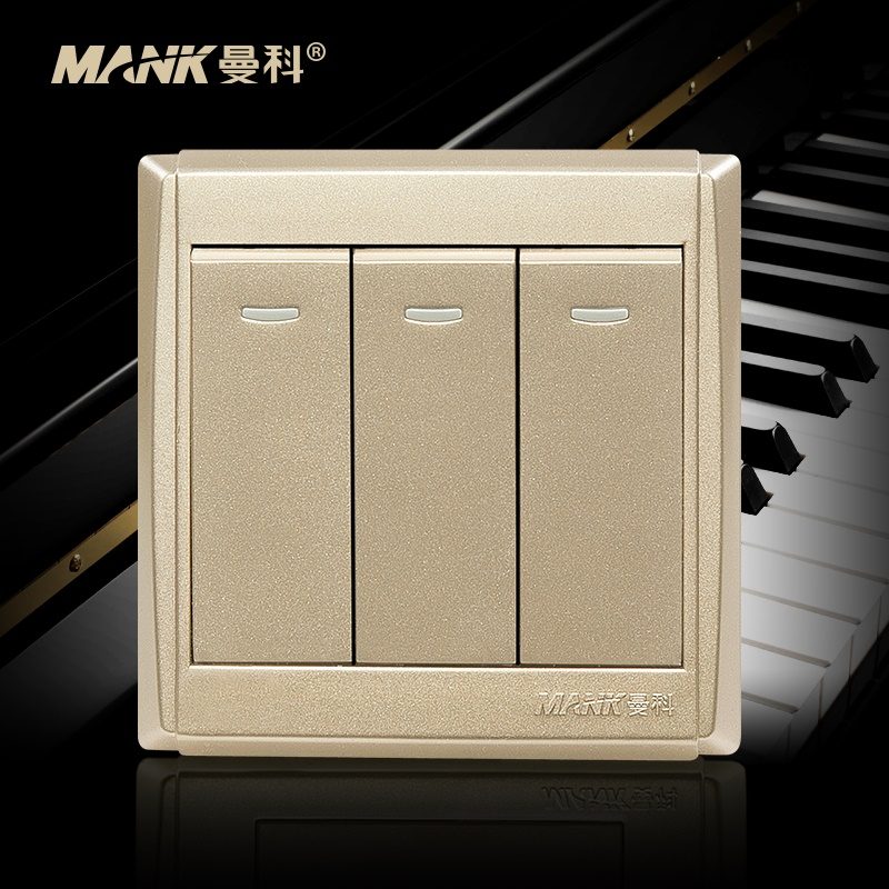 [Piano] manco switch 16a power socket three double control switch 86 type wall switch socket panel