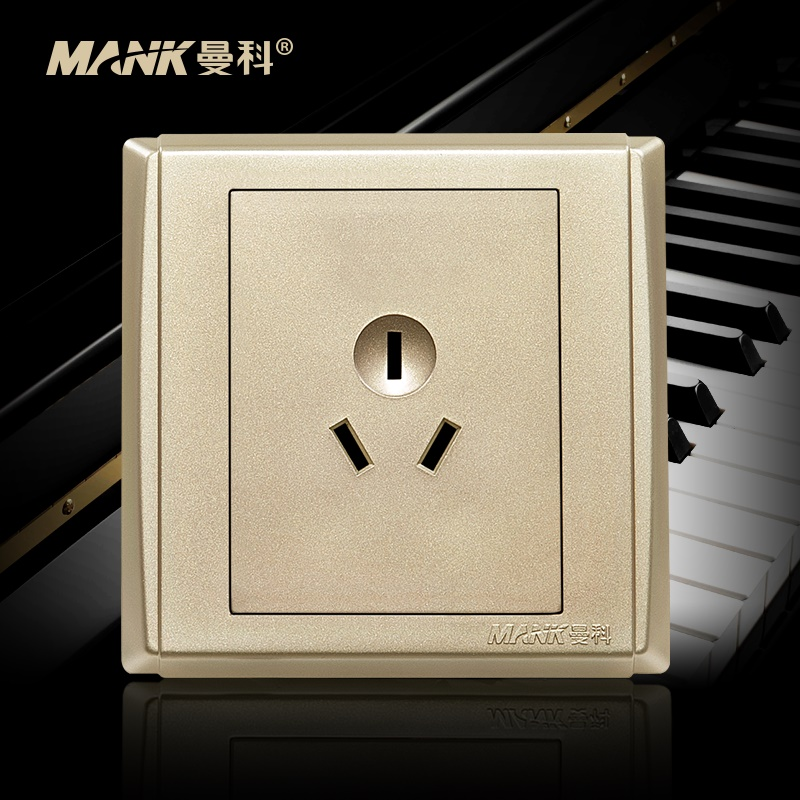 [Piano] manco switch socket panel three holes 10a three socket 86 type wall socket switch panel