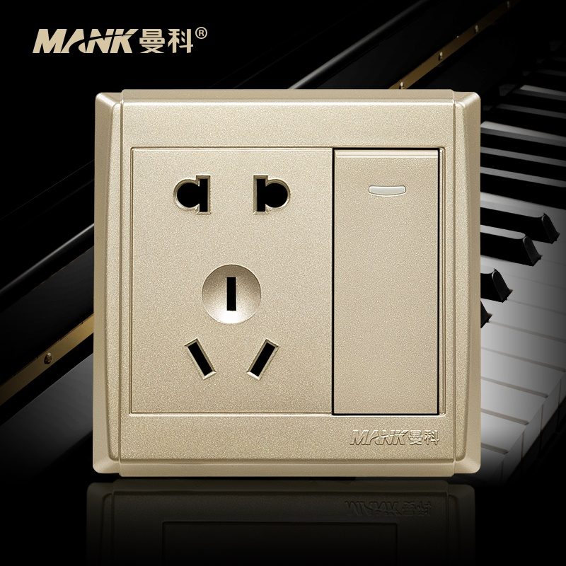 [Piano] manco switch socket with a large plate dual switch socket 86 power switch socket surface