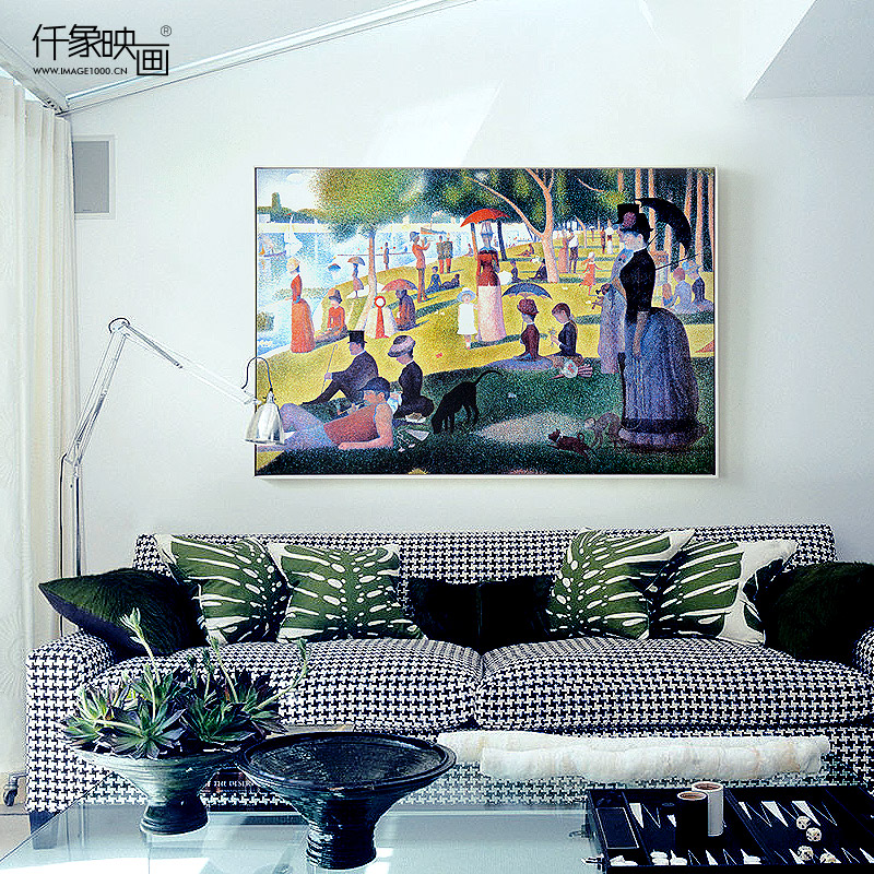 Pictures thousand like seurat sunday bowl island continental bedroom living room dining decorative painting mural paintings