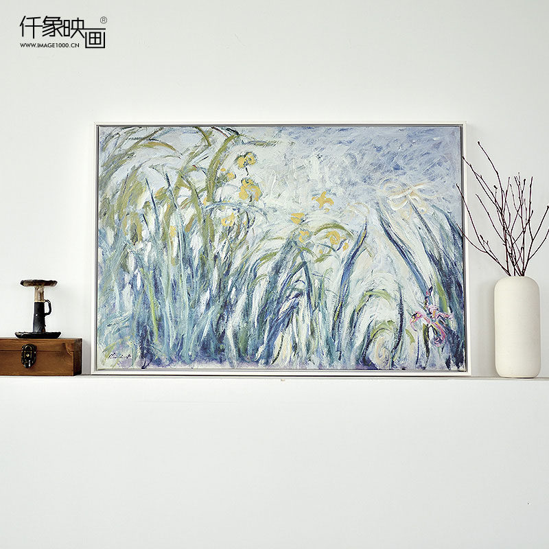 Pictures thousand like yellow and purple iris bedroom living room dining decorative painting modern frameless painting murals