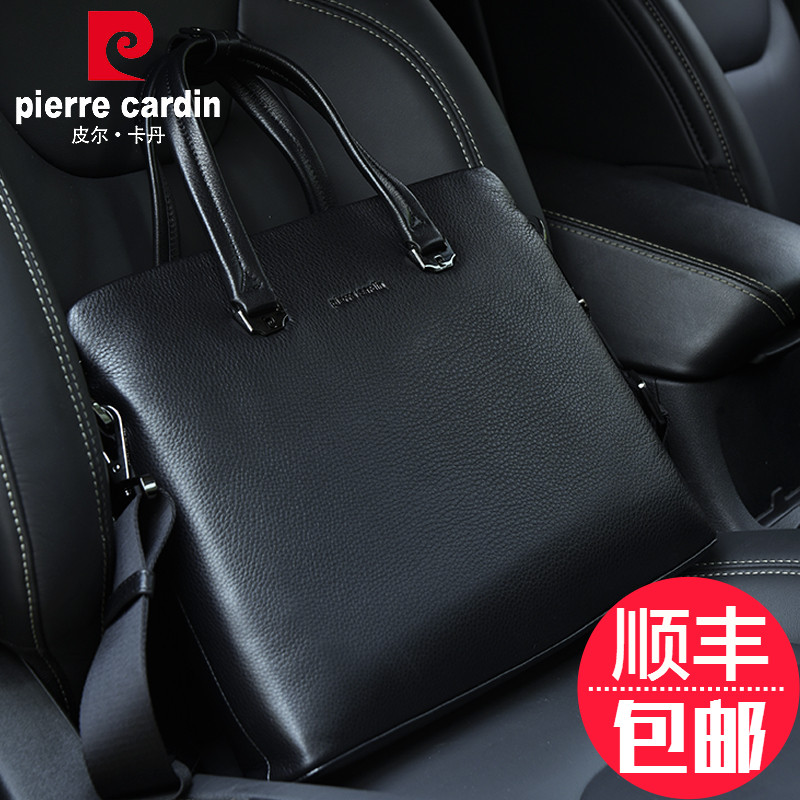 Pierre cardin men briefcase business bag leather man bag casual bag handbag cross section header layer of leather large capacity