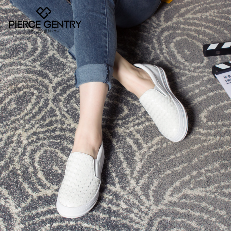 Pierre world gentry 2016 new shoes fashion weave thick crust casual loafers shoes flat shoes singles shoes spring shoes