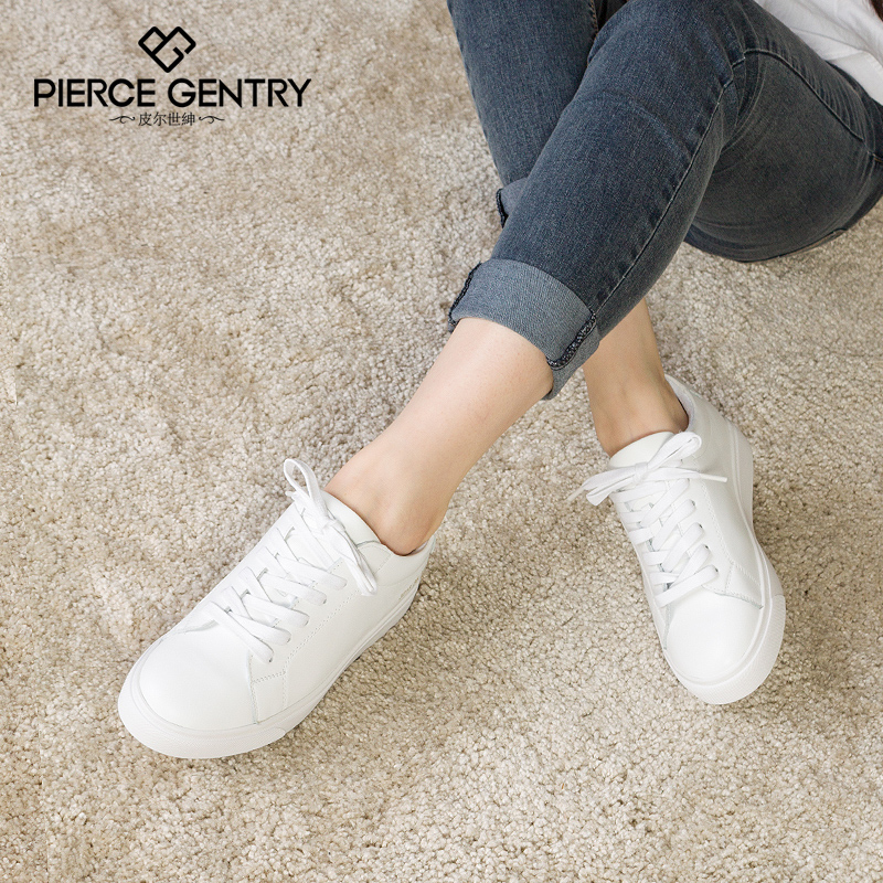 Pierre world gentry 2016 new shoes with white shoes women shoes leather lace shoes korean version of casual flat shoes