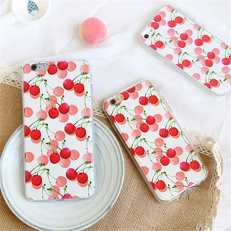 Pig baby gifts small fresh cherry fruit illustration hanfeng iphone6s phone shell mobile phone shell protective sleeve 4.7 inch
