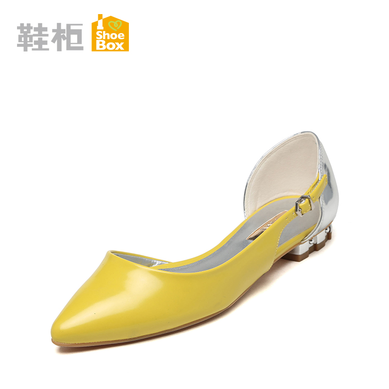Ping yee pinkii spring new low with a set of feet thick crust low to help women shoes shallow mouth pointed 1116202208