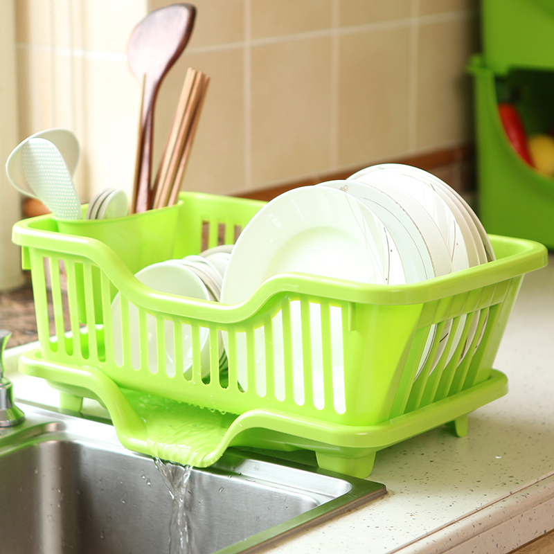 Plastic dish rack drain and kitchen cutlery rack storage rack shelving rack finishing put dishes drip dish rack cutlery rack