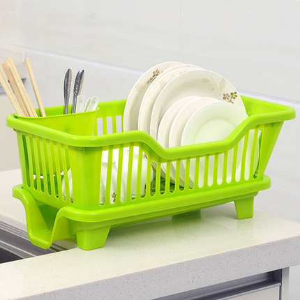 Plastic kitchen cupboards drain dishes dish rack dish rack cutlery storage box to put the dishes drip dish rack shelf