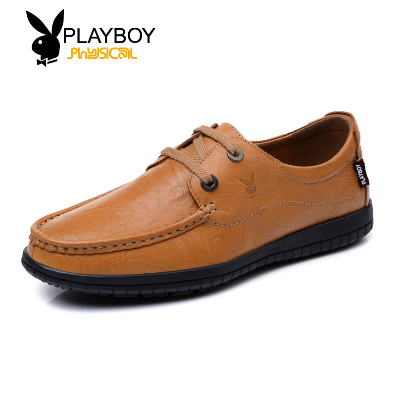 Playboy men's casual shoes spring and summer shoes everyday casual shoes to help low shoes leather shoes tide men's shoes