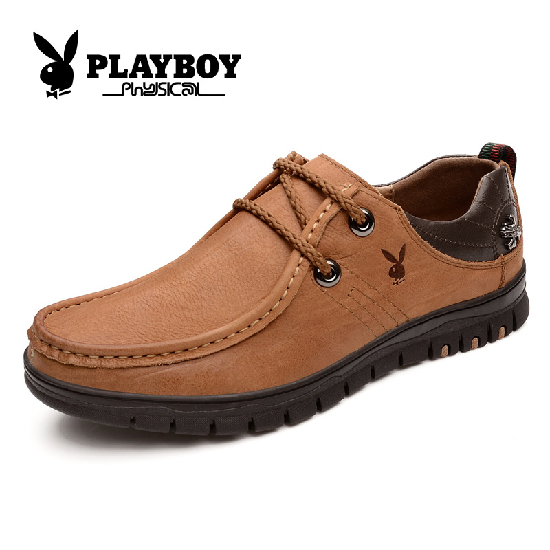 Playboy men's classic casual shoes everyday casual shoes casual shoes spring models england men's leather shoes