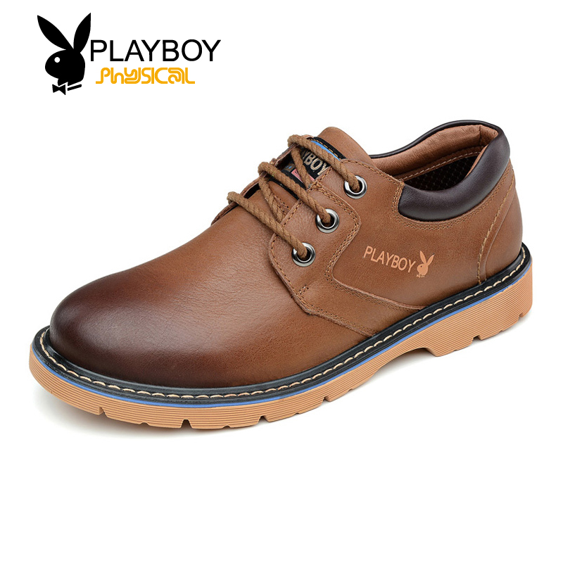 Playboy men's shoes bulk of tooling tide shoes 2016 fall shoes to help low first layer of leather men's everyday casual shoes