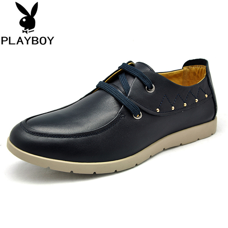 Playboy/playboy 2015 spring and summer men's fashion casual leather shoes everyday casual shoes british lun